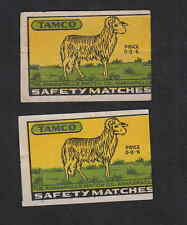 Ensemble   étiquettes allumettes  Inde  BN6800 Bélier  Tamco
