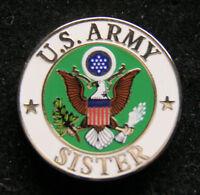 US ARMY SISTER HAT LAPEL PIN UP USA VETERAN VET MOM DAD SON EAGLE GIFT WOW