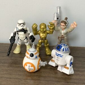 Lot 5x Playskool Star Wars Galactic Heroes Force C3PO R2D2 BB8 Action Figure Toy