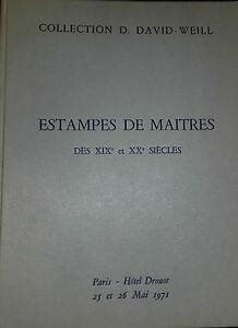 1971 Catalogue de VENTE DROUOT ESTAMPES DE MAITRES XIX ET XXè