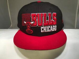 NBA CHICAGO BULLS Hat Cap Flat Brim YOUTH NEW ERA 9FIFTY Adjustable Snapback Boy