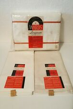 NOS PRE 1959 MONTGOMERY WARDS Double Bed FLAT SHEETS SET & 2 PILLOWCASES
