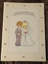 2001 Hallmark Precious Moments Wedding Photo Album Large Postbound 26 pages New
