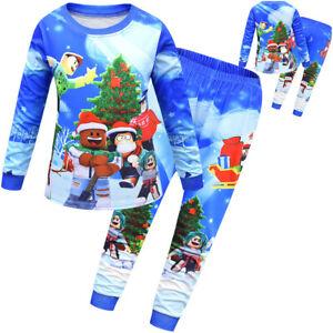 Schlafanzug Jungen Kinder Schlafanzug Langarm Zweiteiliger Kinder Pyjama Weihnac