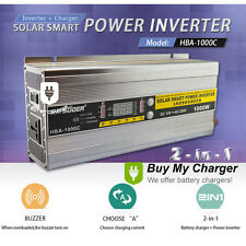 2-In-1 Solar Smart Power inverter & Battery Charger 1000W 30A DC12V to AC220V