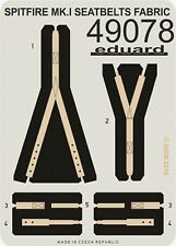 eduard 49078 x 1/48 Spitfire Mk I Seatbelts Fabric-Type for Airfix (Painted)
