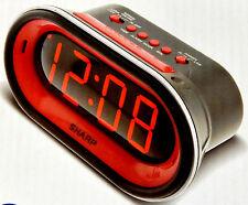 Sharp Digital EXTRA SUPER LOUD SIREN Alarm Clock 100dB+ Battery Backup Red LED