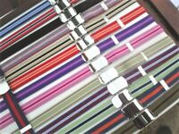 elastic belts for adults  stripes and plain colours black  red  brown navy cream