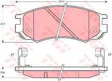 NEWTRW GDB1175 Brake Pad Set-NISSAN PULSAR I Hatchback (N15)199507 - 200003