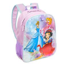 Disney Store Deluxe Princess Light Up Girl Backpack Snow White Cinderella Aurora