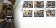 Gibraltar 2016 FDC Historic Gates Landport Gate 6v Set Cover Architecture Stamps