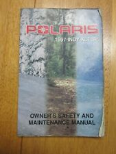 New Listing1997 Polaris Xlt Sp Snowmobile Owner's Safety And Maintenance Manual