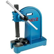 New listing Arbor Press 2 Ton Lever Bench Mountable Bearings Cast Iron Manual Desktop