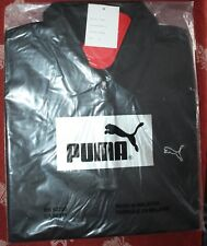 Puma golf shirt black sz M unisex mens womens sample black white logo