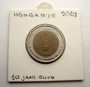 HUNGARY 2 EURO SPECIMEN 1999-2009 10 Years of Euro UNC Bimetallic With COA. UU3