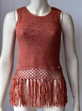 LIPSY KNITWEAR SLEEVELESS ORANGE RUSTIC TOP size S new with tag #20