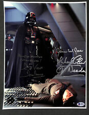 JAMES EARL JONES DARTH VADER & CAPT NEEDA W/ QUOTE SIGNED 11X14 OPX BAS BECKETT
