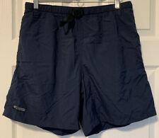 Men's Columbia Swim Trunks Quick Dry Shorts Size Medium Navy Blue