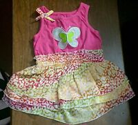 LOT Baby Girls 2 Outfits GUC Size 6-9 Mths