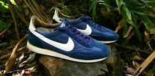 Vintage 1986 Nike Oceania Suede/Nylon Mens Size 11 Blue White Waffles Cortez