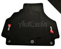 Audi R8 2008-2014 Black Floor Mats With R8 Logo With Clips LHD Side EU Model