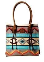 """Sts 'Sedona"""" Serape """"Chaps"""" Tote (Large)  Retails $200  Gorgeous Color Palette"""