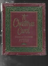 A CHRISTMAS CAROL Charles Dickens P J LYNCH SIGNED BY Easton Press Leather 2019