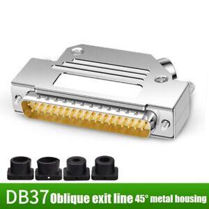 DB37 Welding Needle Male Head Female Head 37-pin Plug 45° Metal Shell Connector