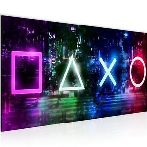 Wandbilder Wohnzimmer - Spielkonsole Gamer Schlafzimmer - Vlies Leinwand Bild Mo