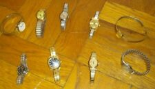 Lot of 9 Vintage Wrist Watches!  Timex Caravelle Sanford Ladies Womens