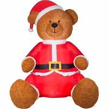 CHRISTMAS  9 FT TEDDY BEAR SANTA  AIRBLOWN INFLATABLE YARD DECORATION
