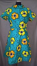 Stunning Traditional African Skater Dress - size UK 18-20       (#A35)
