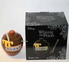 Licensed Disney Winnie The Pooh Bear Ceramic Honey Pot & Wooden Drizzler NEW Box