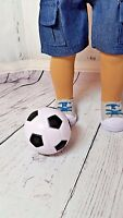 """Kidz N Cats and Other 18/"""" Dolls 2/"""" Soccer Ball Sized For American Girl"""