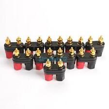 10PCS Terminal Binding Post Power Amplifier Dual 2-way Banana Plug Jack HOT