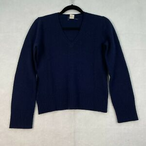 Vintage J.Crew Lambs Wool Size Small Navy Pullover Sweater Womens S J Crew EUC
