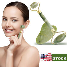 Jade Roller Face Body Eye Kit Gua Sha Massager Anti Aging Wrinkle Beauty Therapy