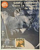 PUBLICITÉ DE PRESSE 1991 AVEC RTL JOHNNY HALLYDAY DANS LA CHALEUR DE BERCY