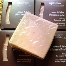 Apeiron Pflanzenölseife Neem & Lehm 100g für unreine Haut Ayurveda Naturkosmetik