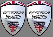 2 stickers autocollant fond chrome TRIUMPH SPITFIRE 1500 (idéal pour aile avant)