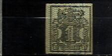 1883-ALEMANIA SELLO ESTADO HANOVRE HANNOVER AÑO 1856 Nº 10.15,00€ 4 MARGENES.