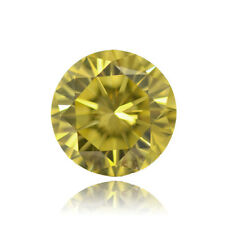 Fancy Vivid Yellow Color Round Natural Loose Diamond 1.30 TCW Carat VS2