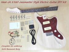 Haze JA 1920 Electric Guitar DIY,Solid Basswood Body,No-Solder