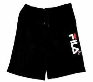 FILA Children Shorts Tracksuit Bottoms Fitness Sport S L XL Black