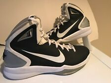 0928199b68b7 Mens Nike Hyperdunk Flywire Athletic Basketball Hi Top Shoes Size 18 Black