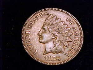 1876 Indian Head Cent, About Uncirculated Grade.  Near Mint State!!