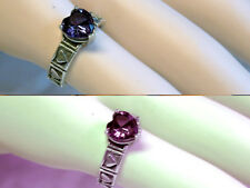 8mm color change alexandrite antique 925 sterling silver heart ring size 6 USA
