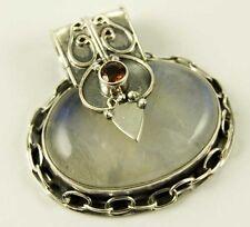 Collares y colgantes de joyería de plata de ley de piedra de luna