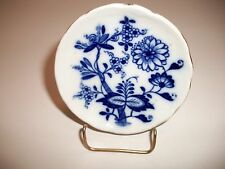 """BLUE AND WHITE BUTTER PAT-RIDGEWAYS (MEISSEN) 3 1/4"""" DIA -  STAND NOT INCLUDED"""