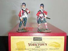 Britains 17837 british 71ST highlanders officer + sous-officier toy soldier command set